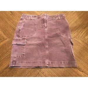 J. Jill Size 6 Stretch Light Purple Corduroy Skirt
